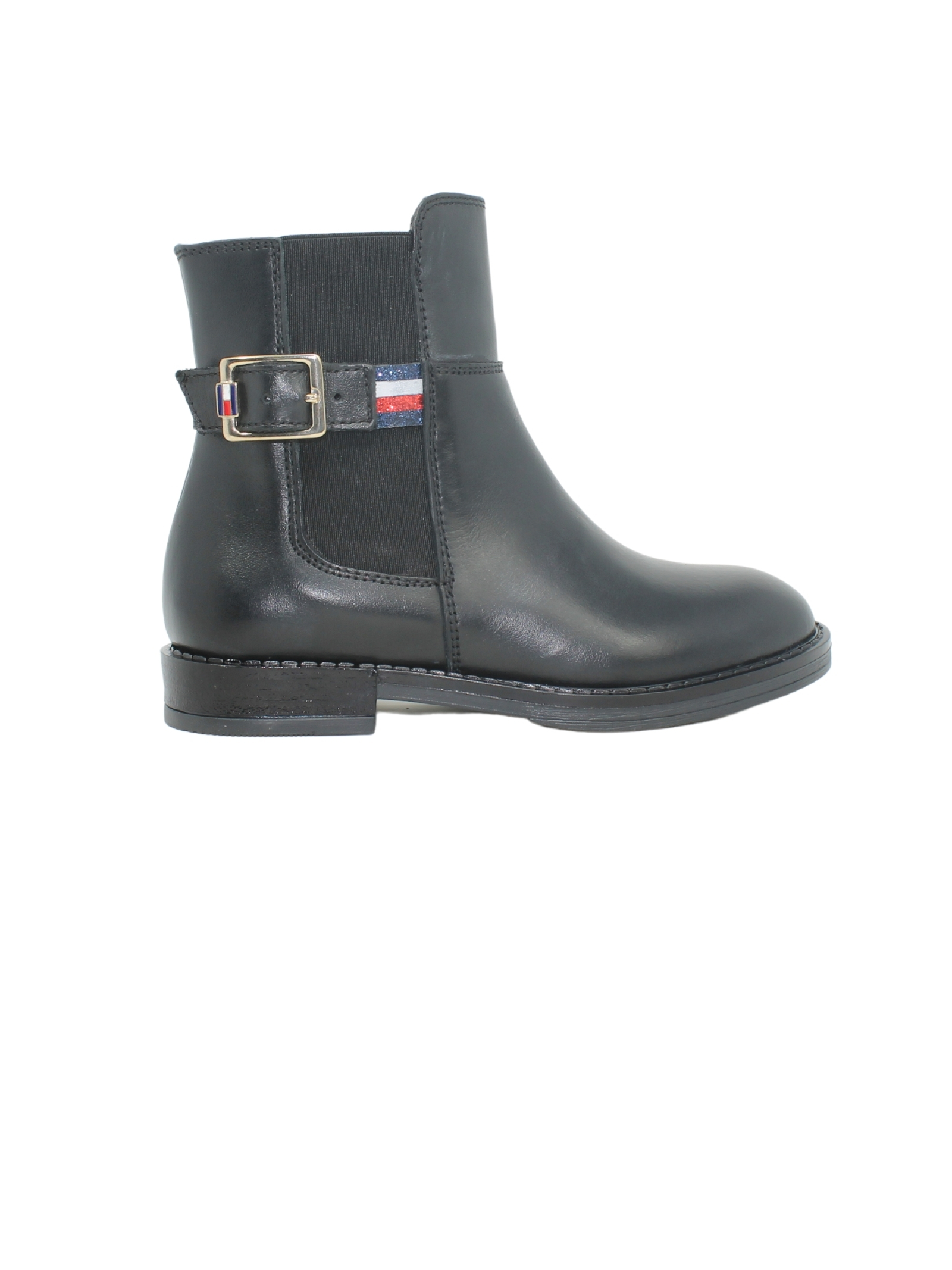 Flat Boots with Glitter for Girls TOMMY HILFIGER KIDS |  | T4A6320230283999NERO