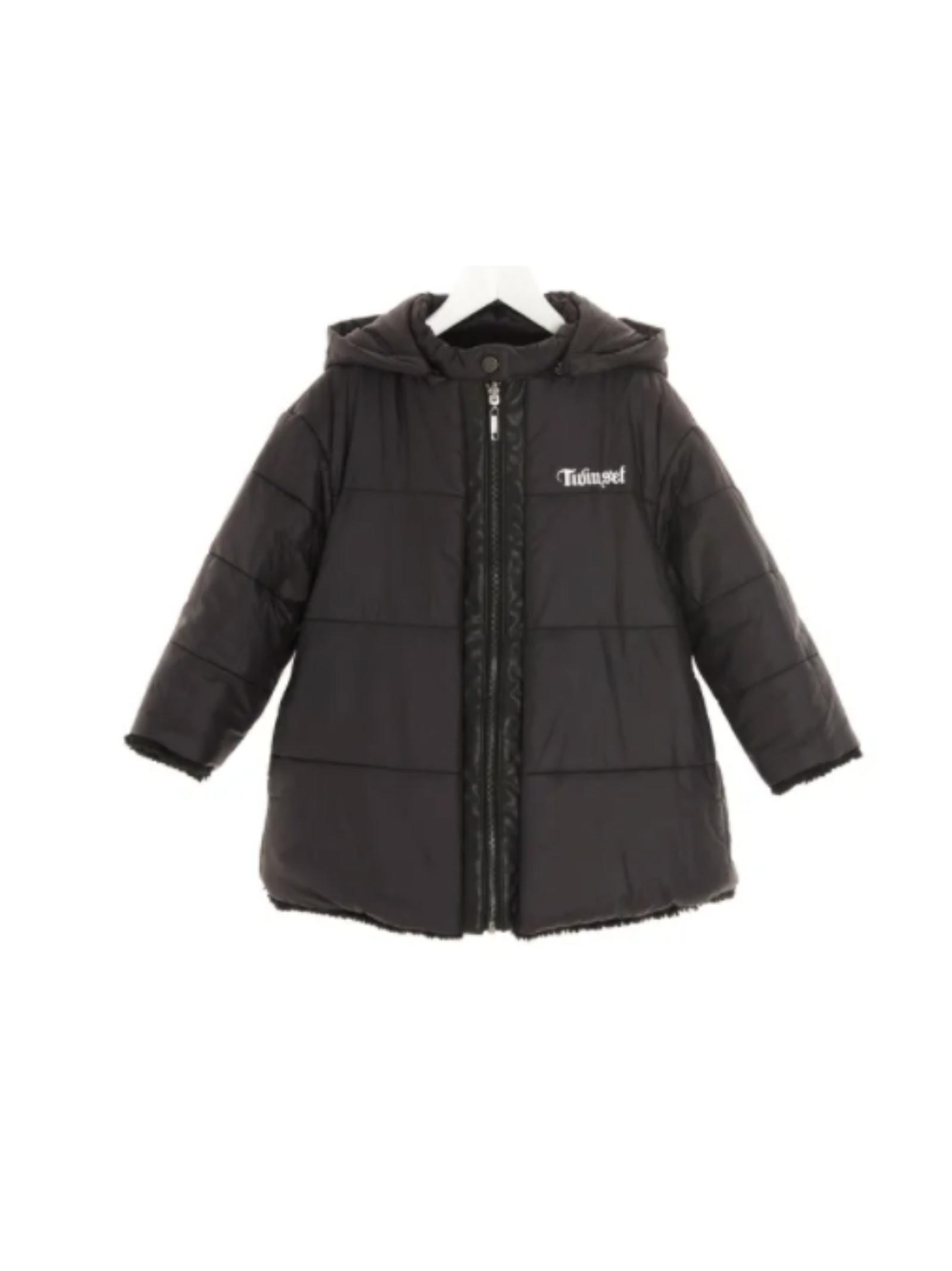 Black Reversible Jacket for Girls TWINSET KIDS   Jackets   212GJ216A00006