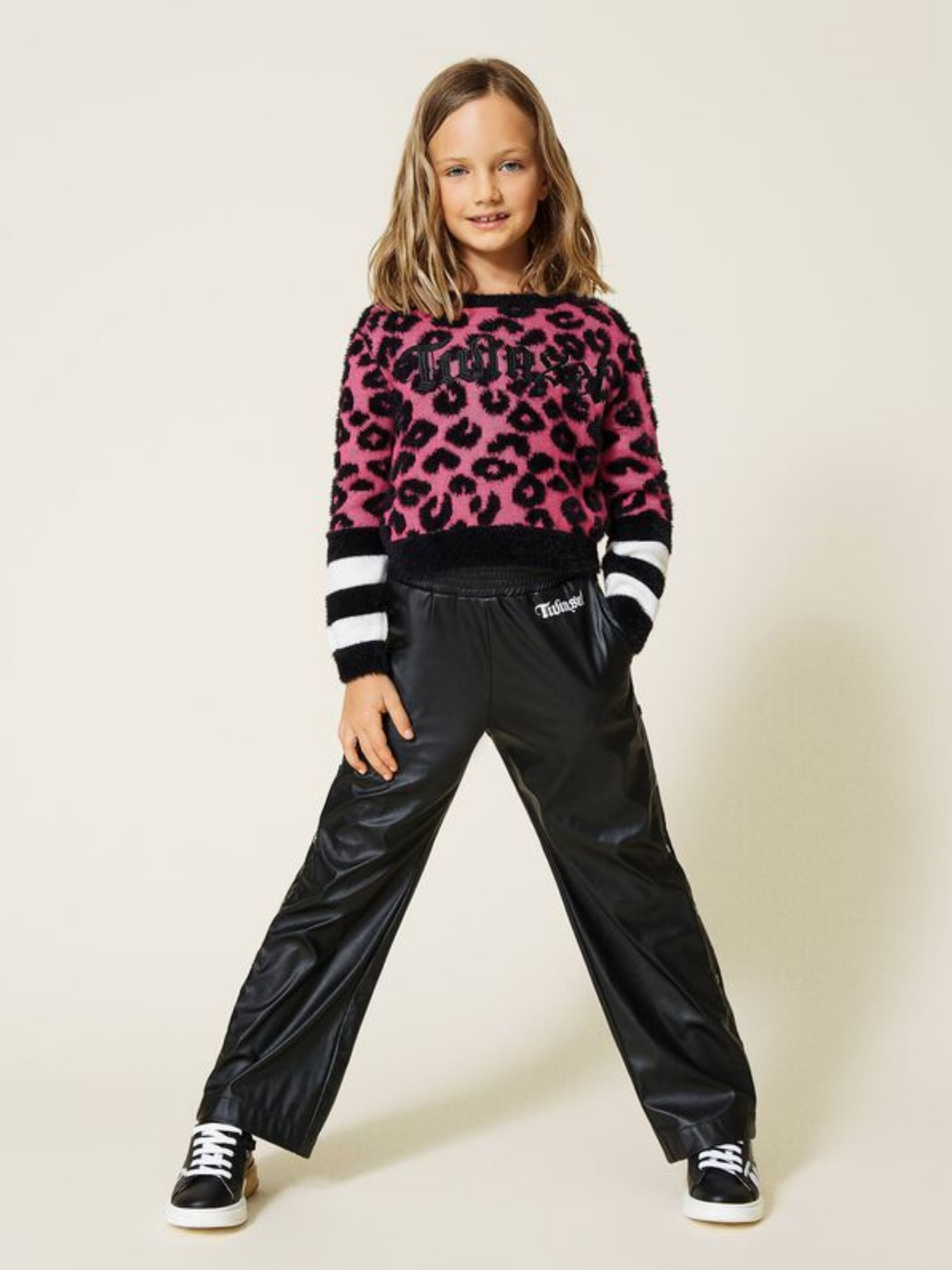 Ecoleather Trousers for Girl TWINSET KIDS   Trousers   212GJ248D00006