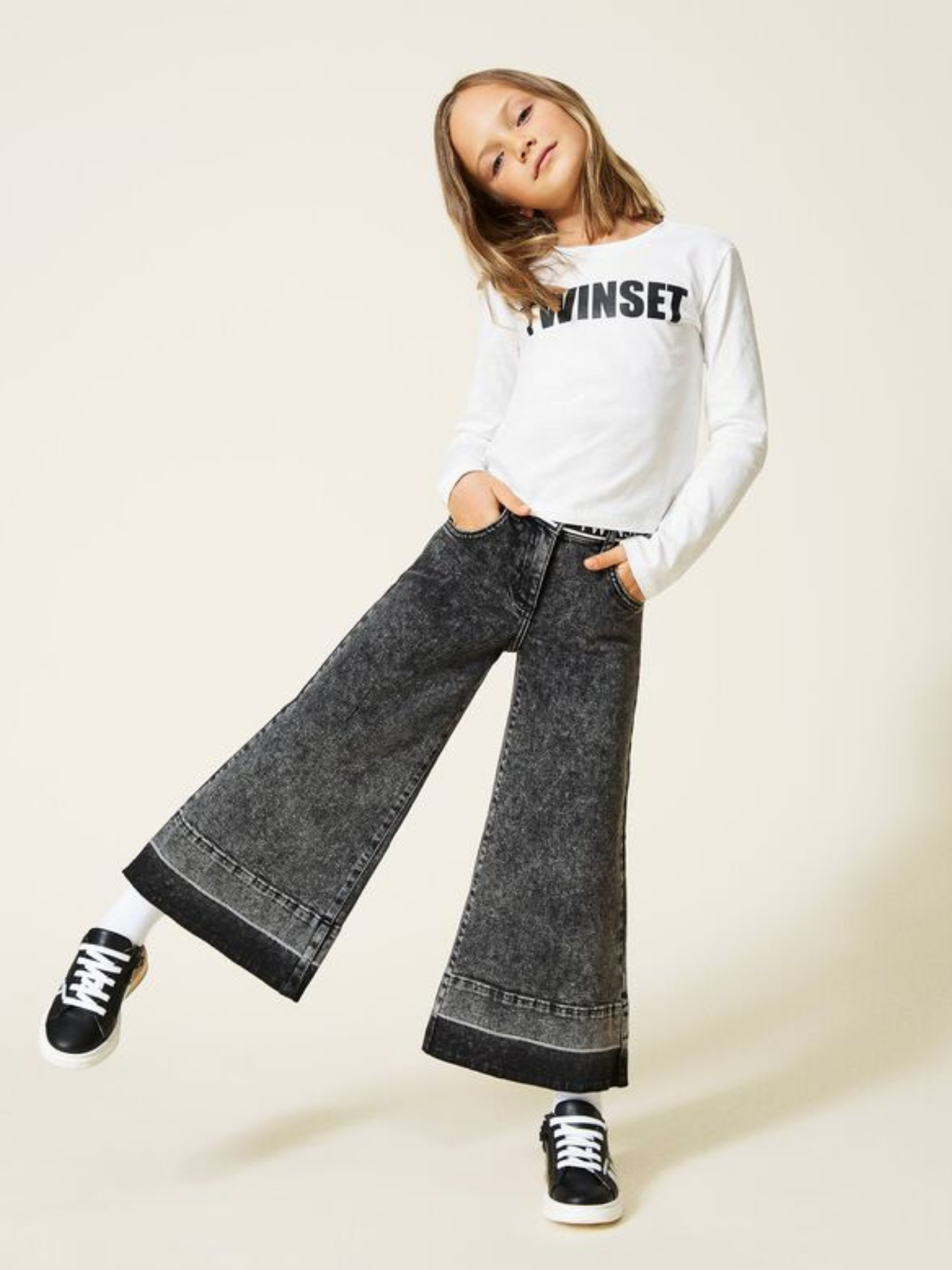 Girl's Crewneck Sweater TWINSET KIDS      212GJ259000526