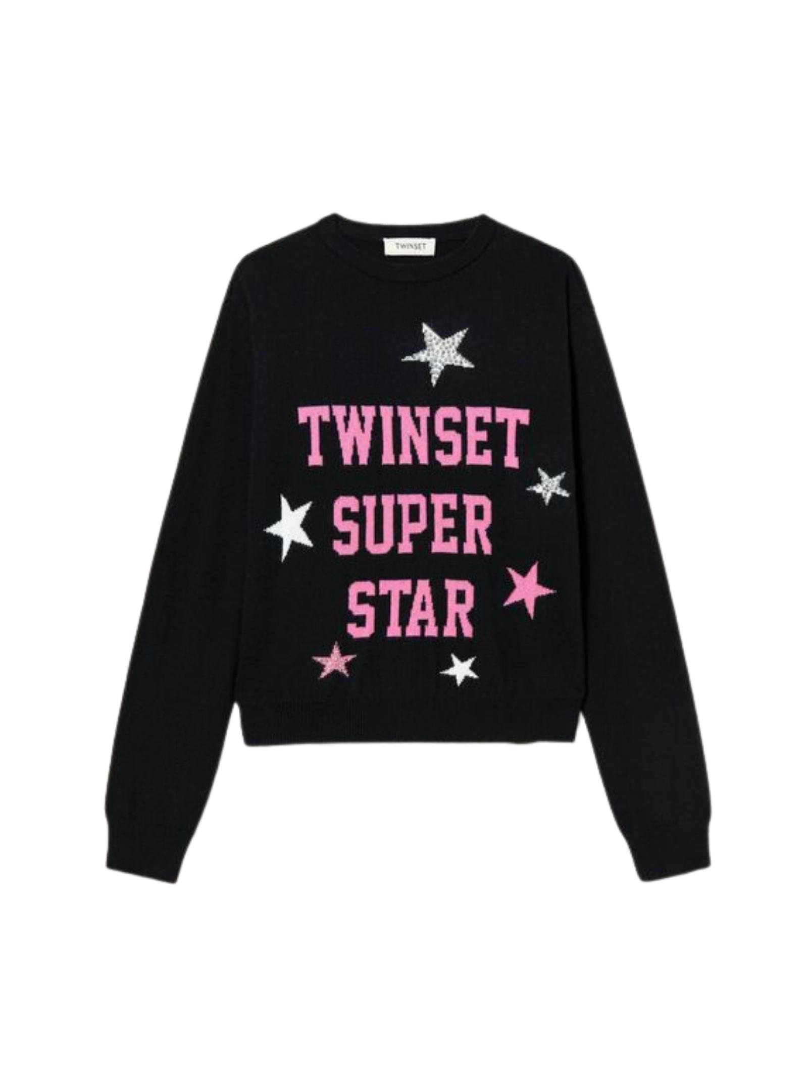 Stella Girl sweater TWINSET KIDS   Sweaters   212GJ3052NERO