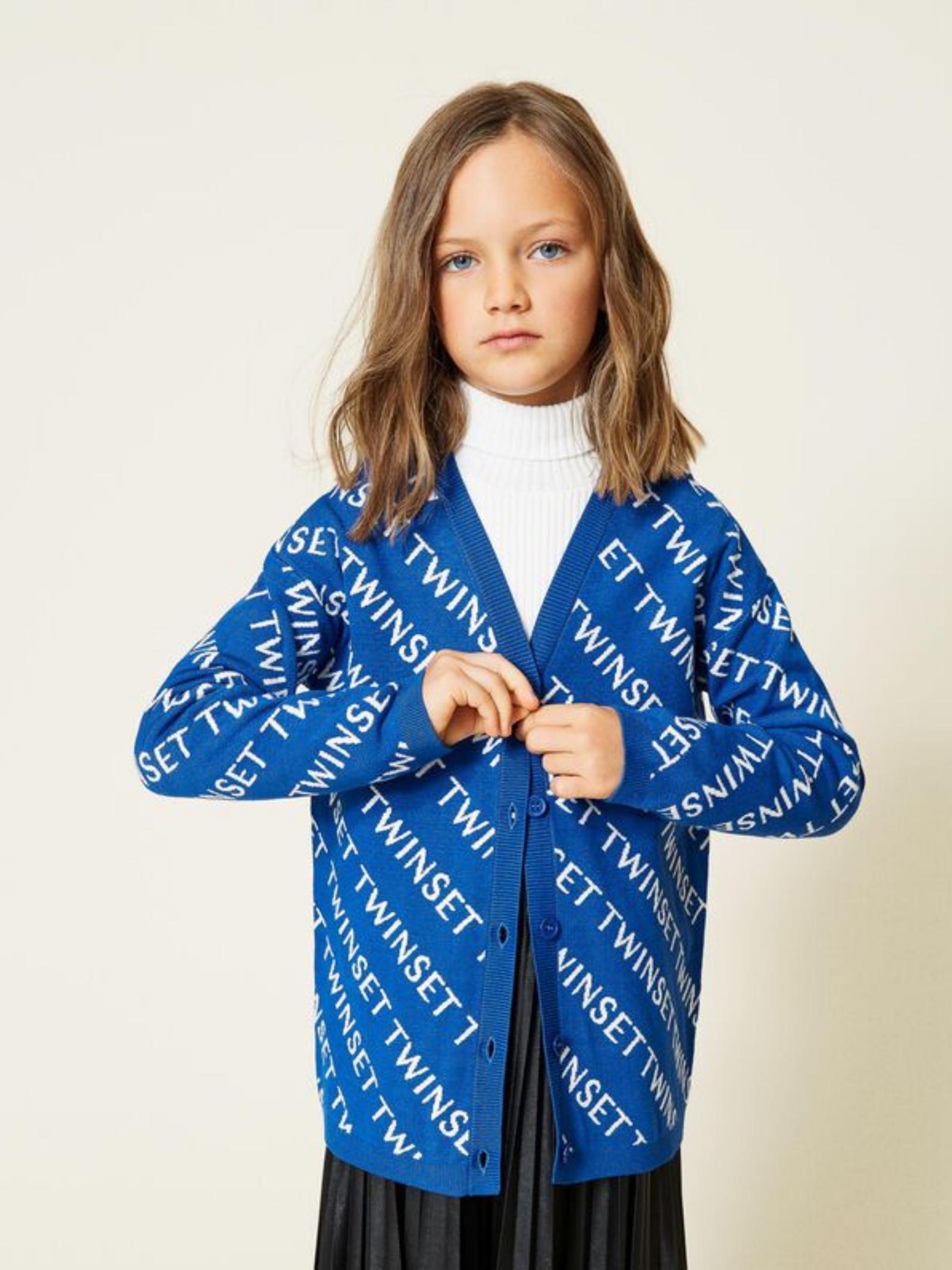 Jacquard cardigan for girls TWINSET KIDS   Cardigan   212GJ331B06408