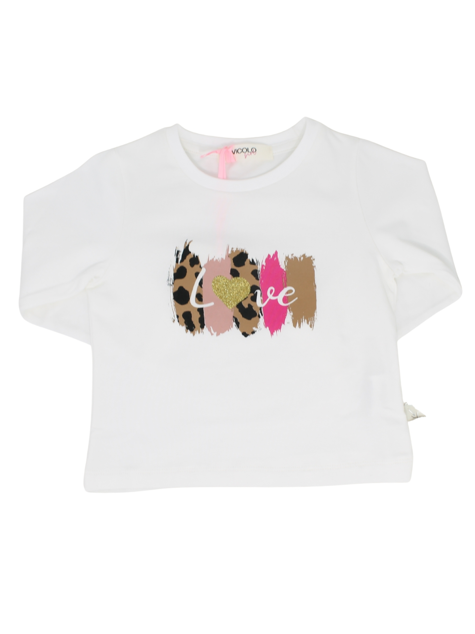Love Print Sweater for Girls VICOLO KIDS |  | 3141M0629PANNA