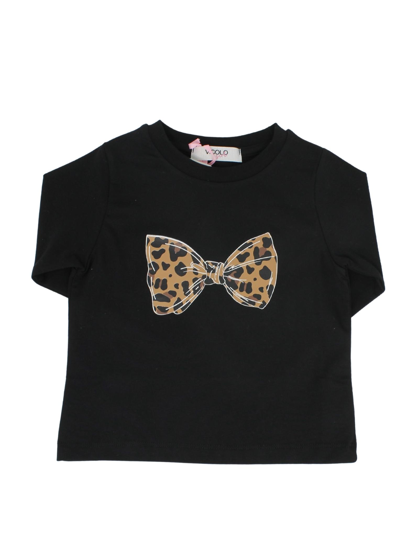 Bow Girl T-shirt VICOLO KIDS |  | 3141M0669NERO