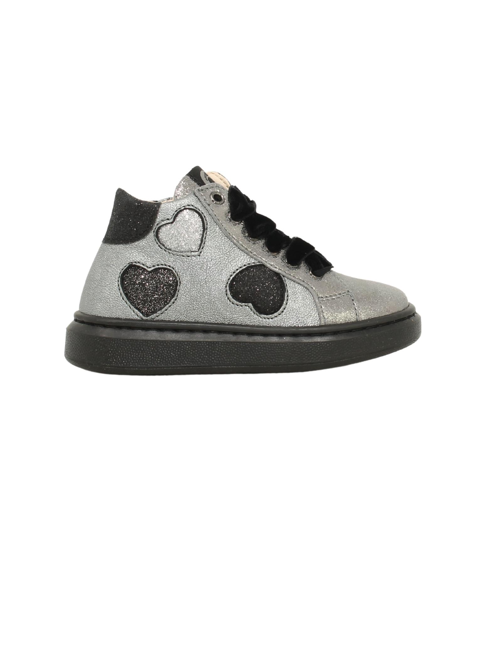 Girls Heart Glitter Sneakers WALKEY | Sneakers | Y1A4414451295X503ARGENTO