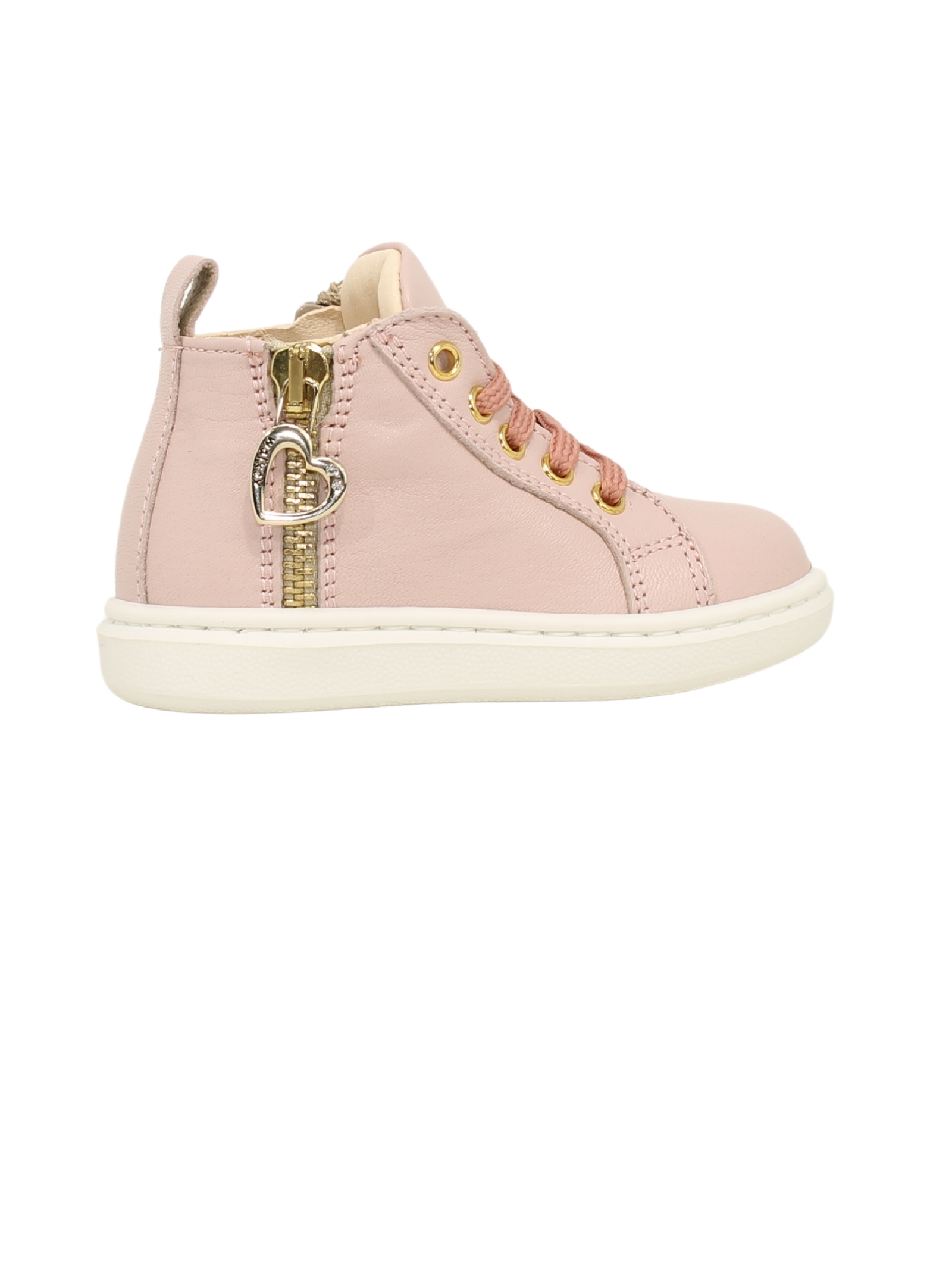 High Sneakers with Fake Zip Girl WALKEY | Sneakers | Y1A4414471201302ROSA