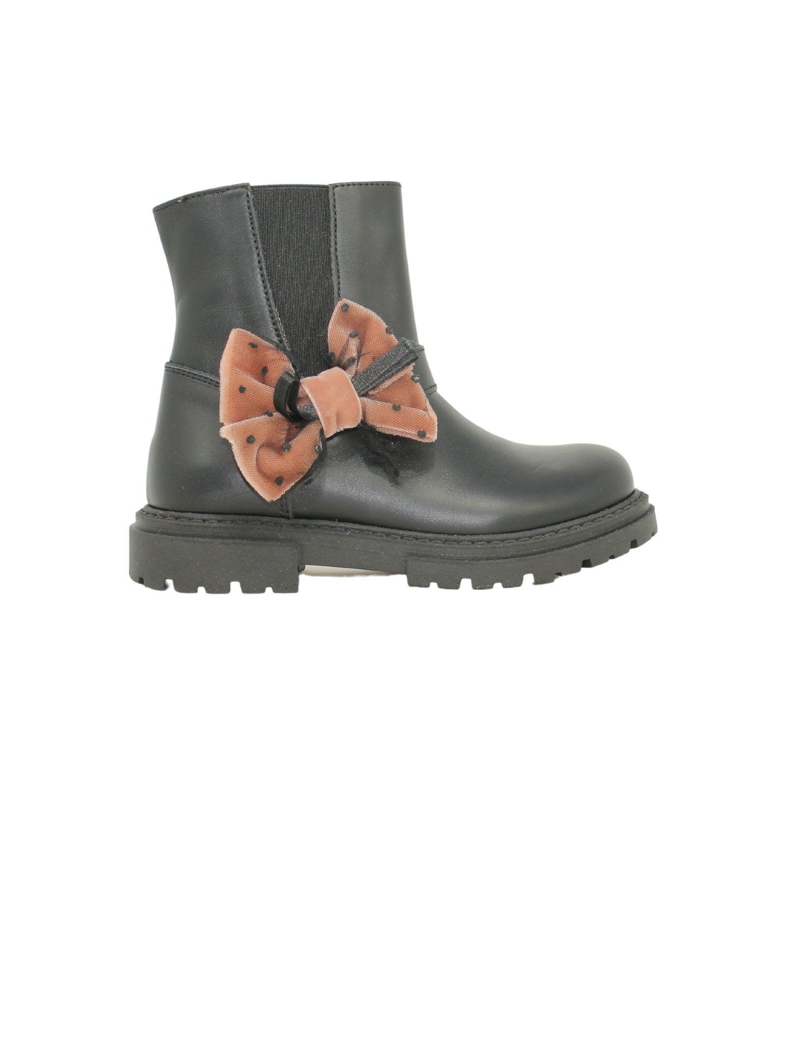 Girls' Tulle Bow Ankle Boots WALKEY |  | Y1A5415120092999NERO