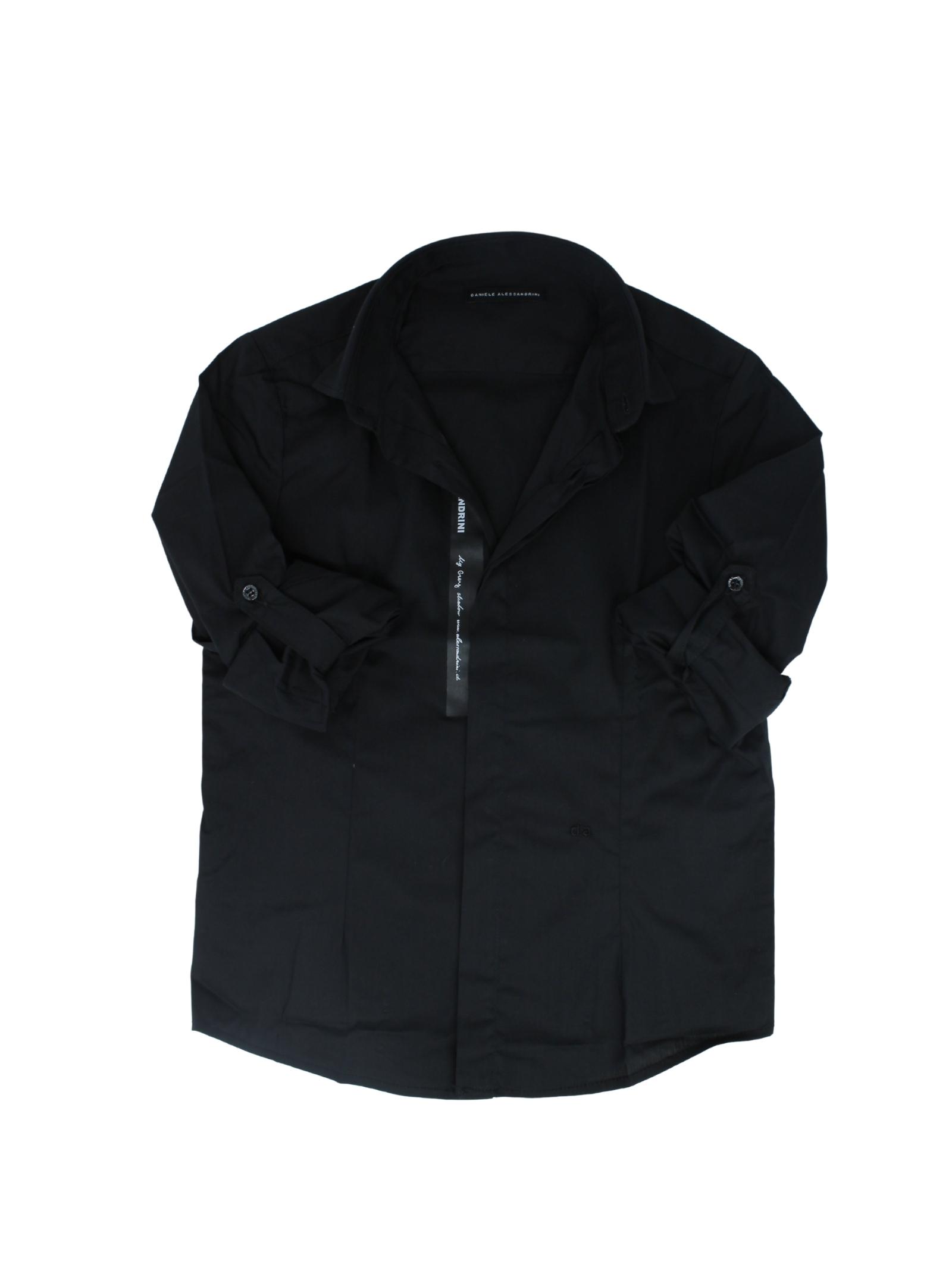 Camicia Bambino Black DANIELE ALESSANDRINI JUNIOR | Camicie | 1235C0843NERO