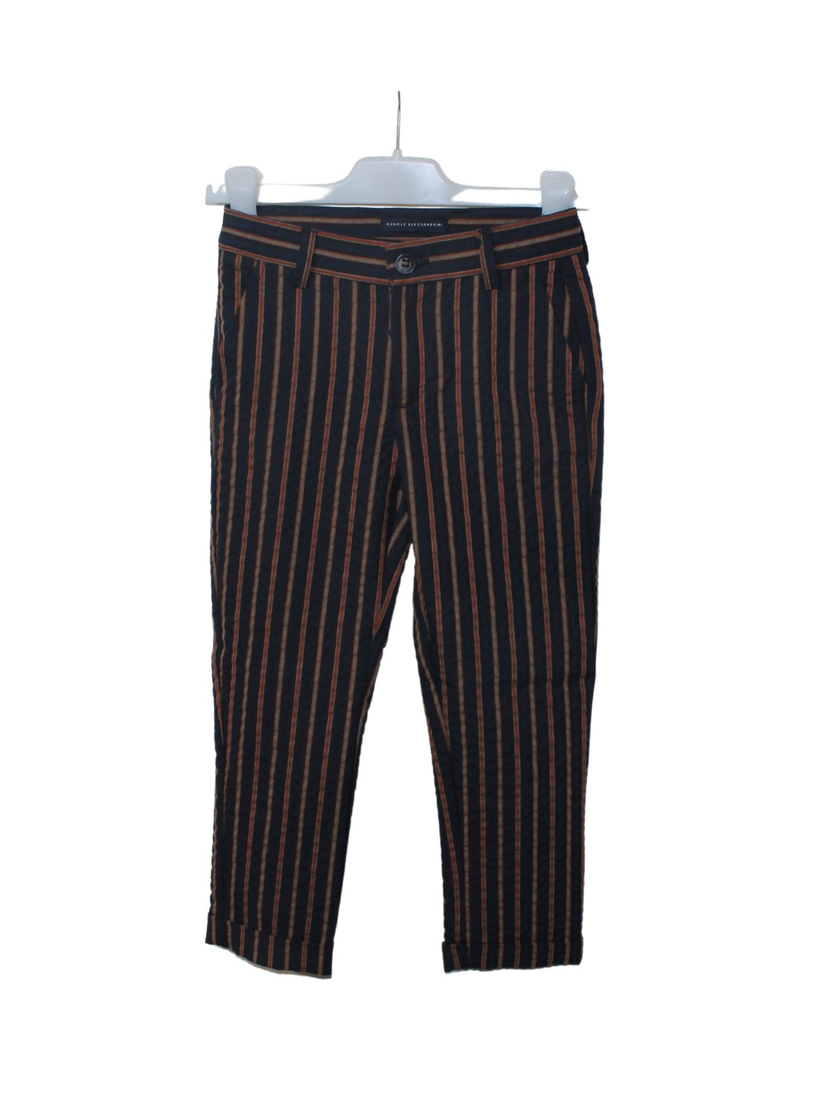 DANIELE ALESSANDRINI JUNIOR | Trousers | 1235P0861BLU/ARANCIO