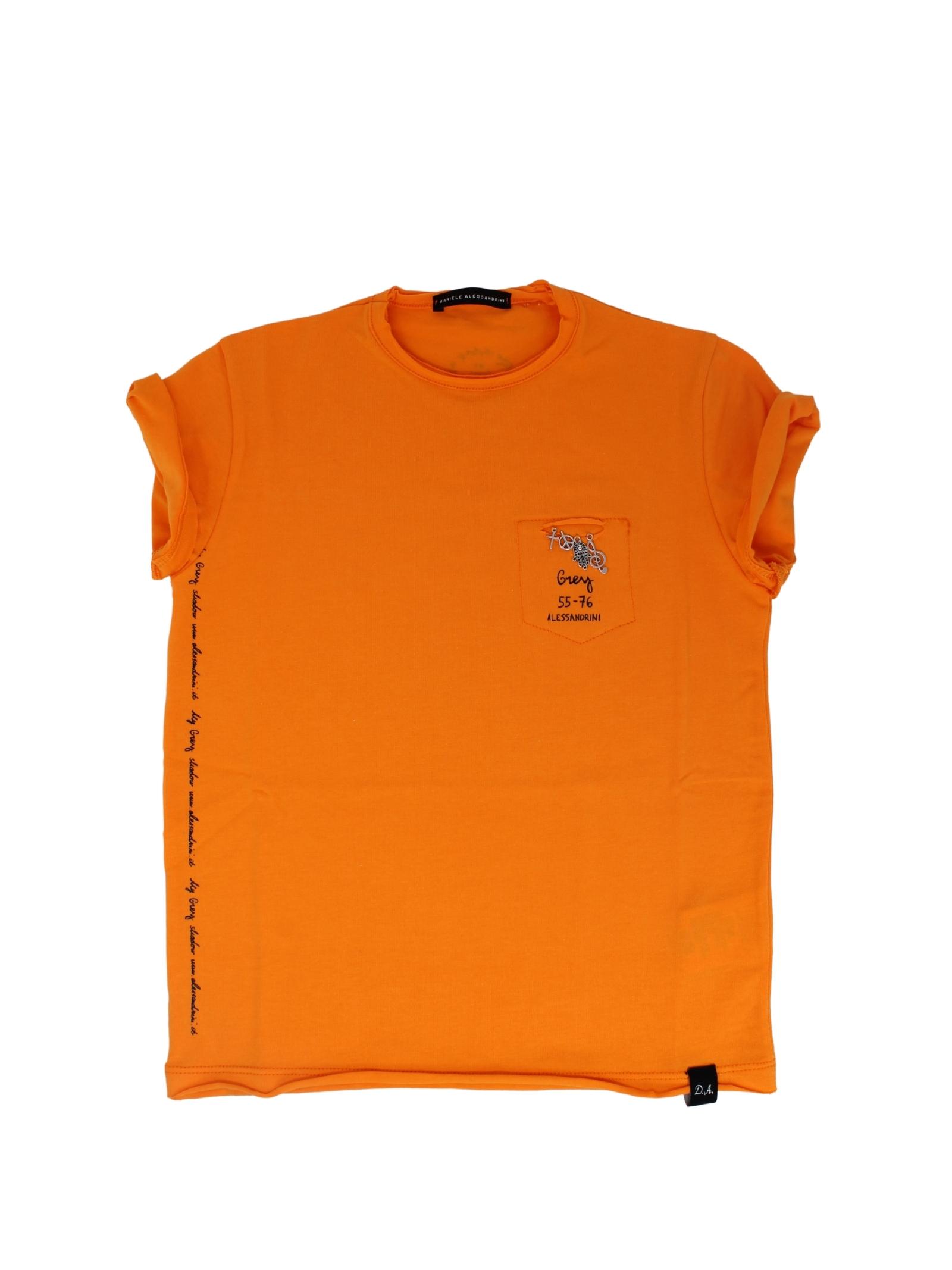 T-Shirt Bambino Orange DANIELE ALESSANDRINI JUNIOR | T-shirt | 1236M0814ARANCIO