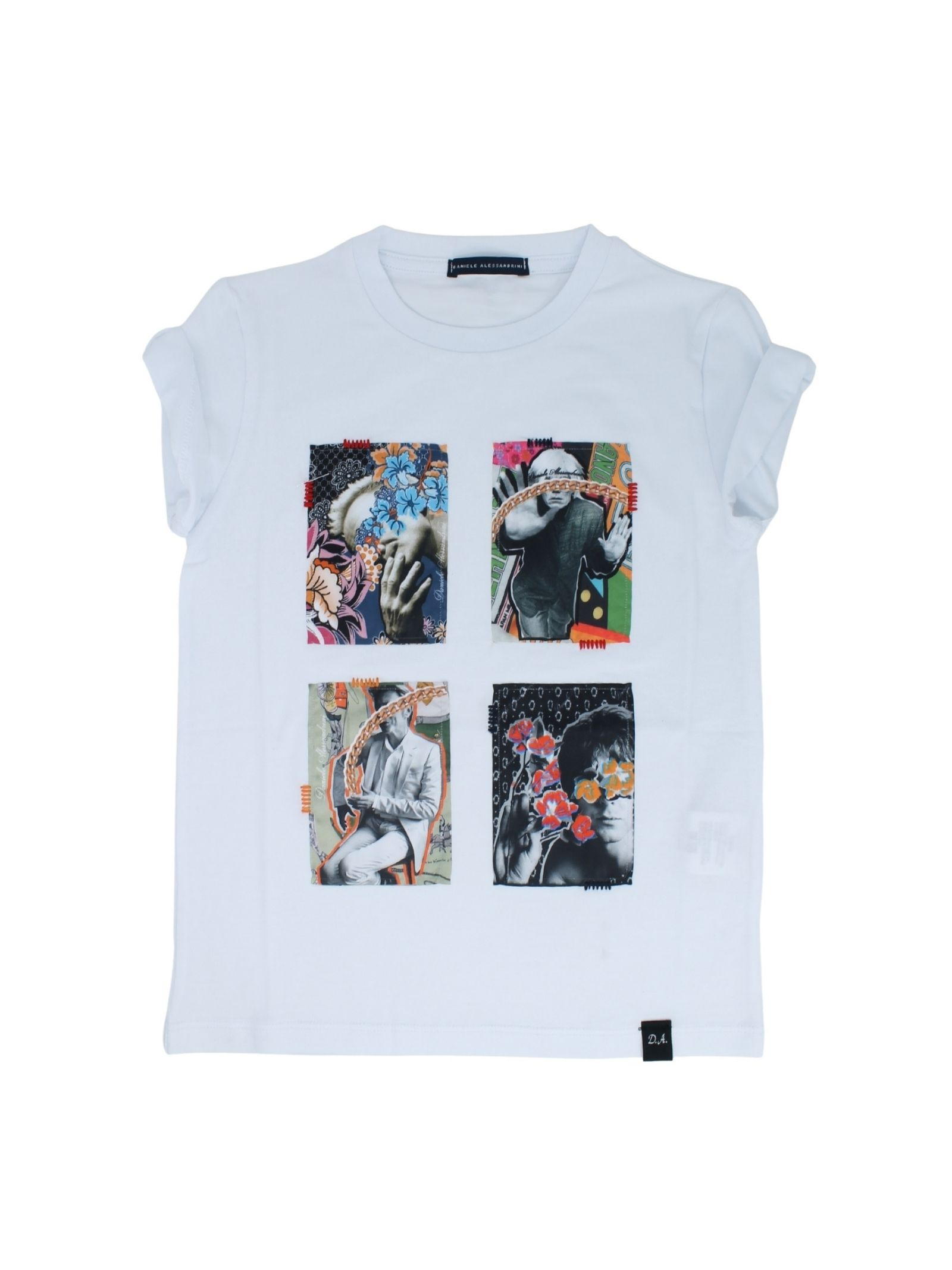 T-Shirt Bambino Stampa DANIELE ALESSANDRINI JUNIOR | T-shirt | 1236M0817WHITE
