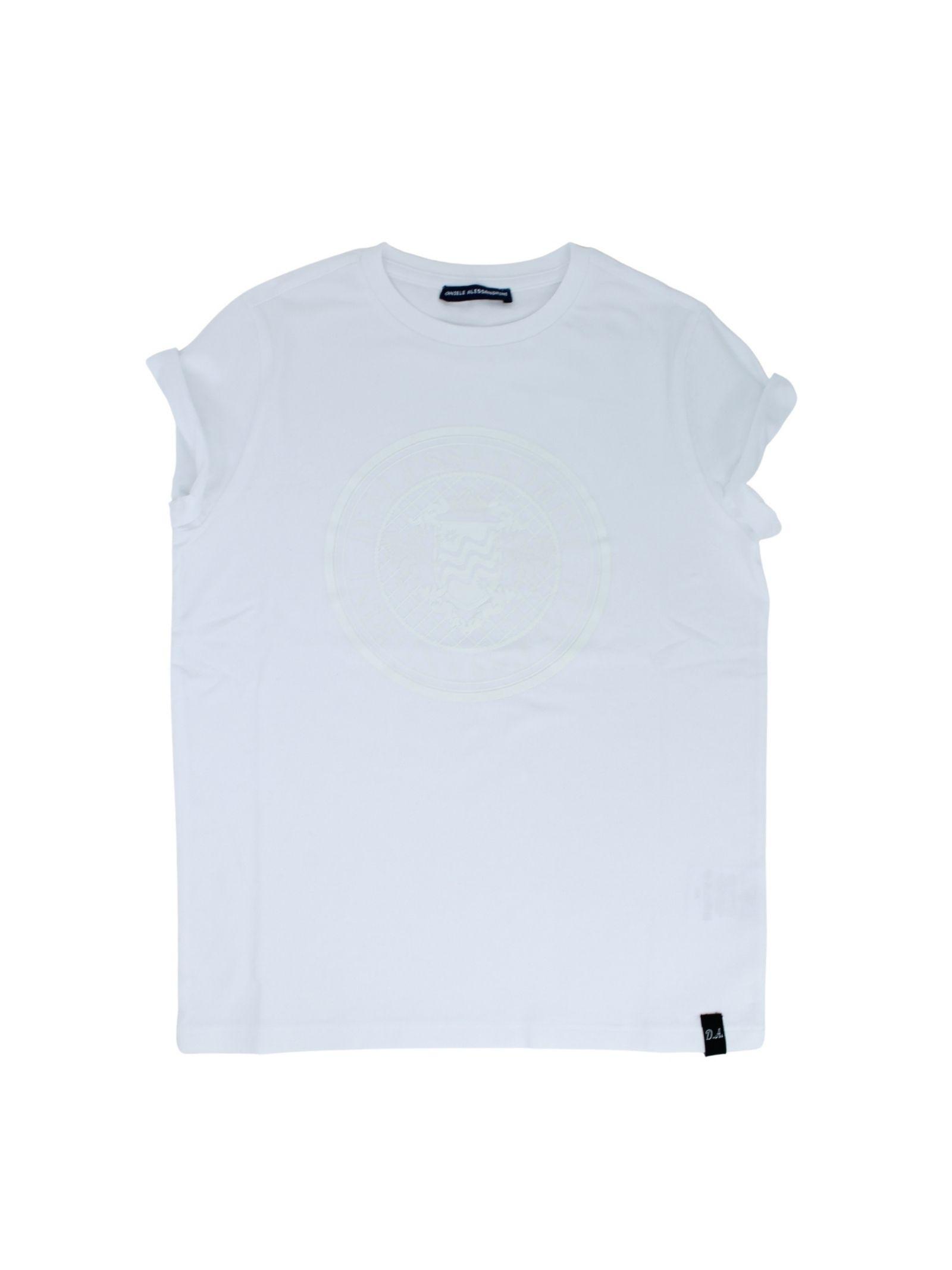 T-Shirt BambinoTotal White DANIELE ALESSANDRINI JUNIOR | T-shirt | 1236M0910WHITE