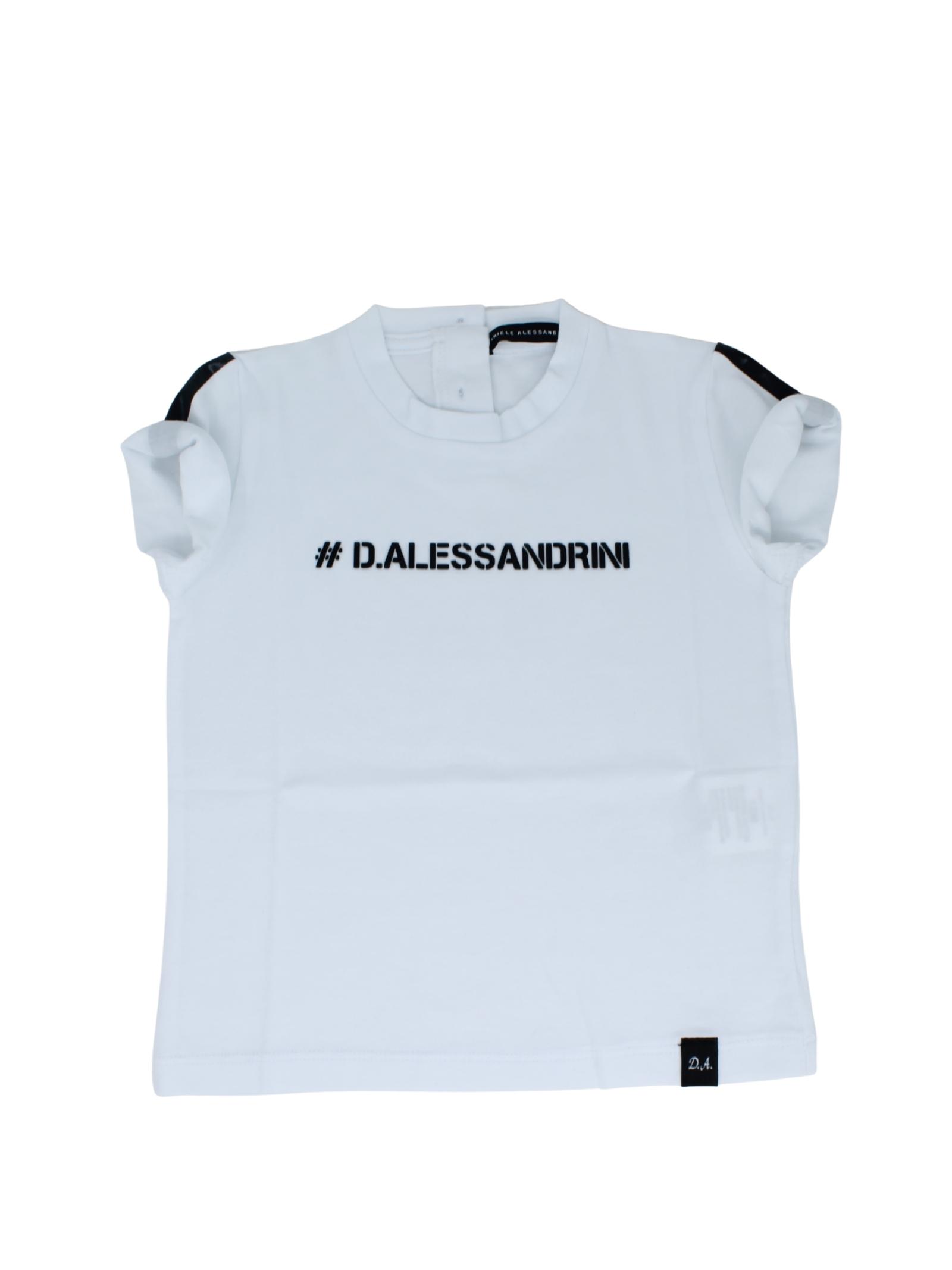 T-Shirt Bambino Logo DANIELE ALESSANDRINI JUNIOR | T-shirt | 1296M0589WHITE