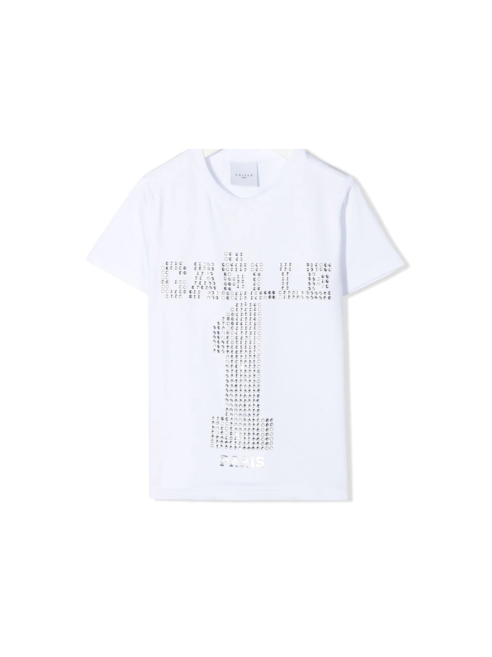 T-shirt Swarovki One Bambina GAËLLE PARIS KIDS | T-shirt | 2746M0382WHITE