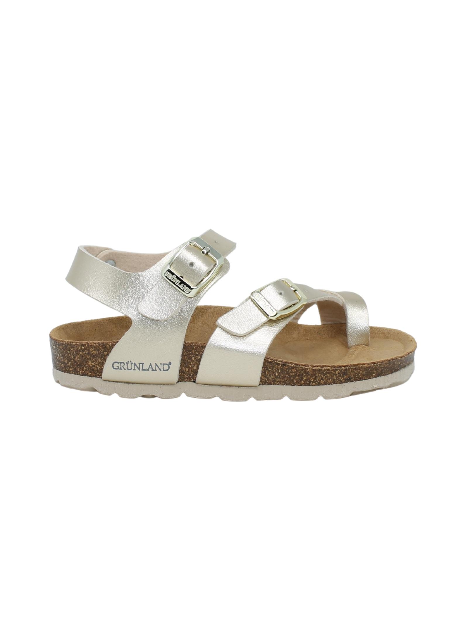 GRUNLAND JUNIOR | Sandals | 1895PLATINO