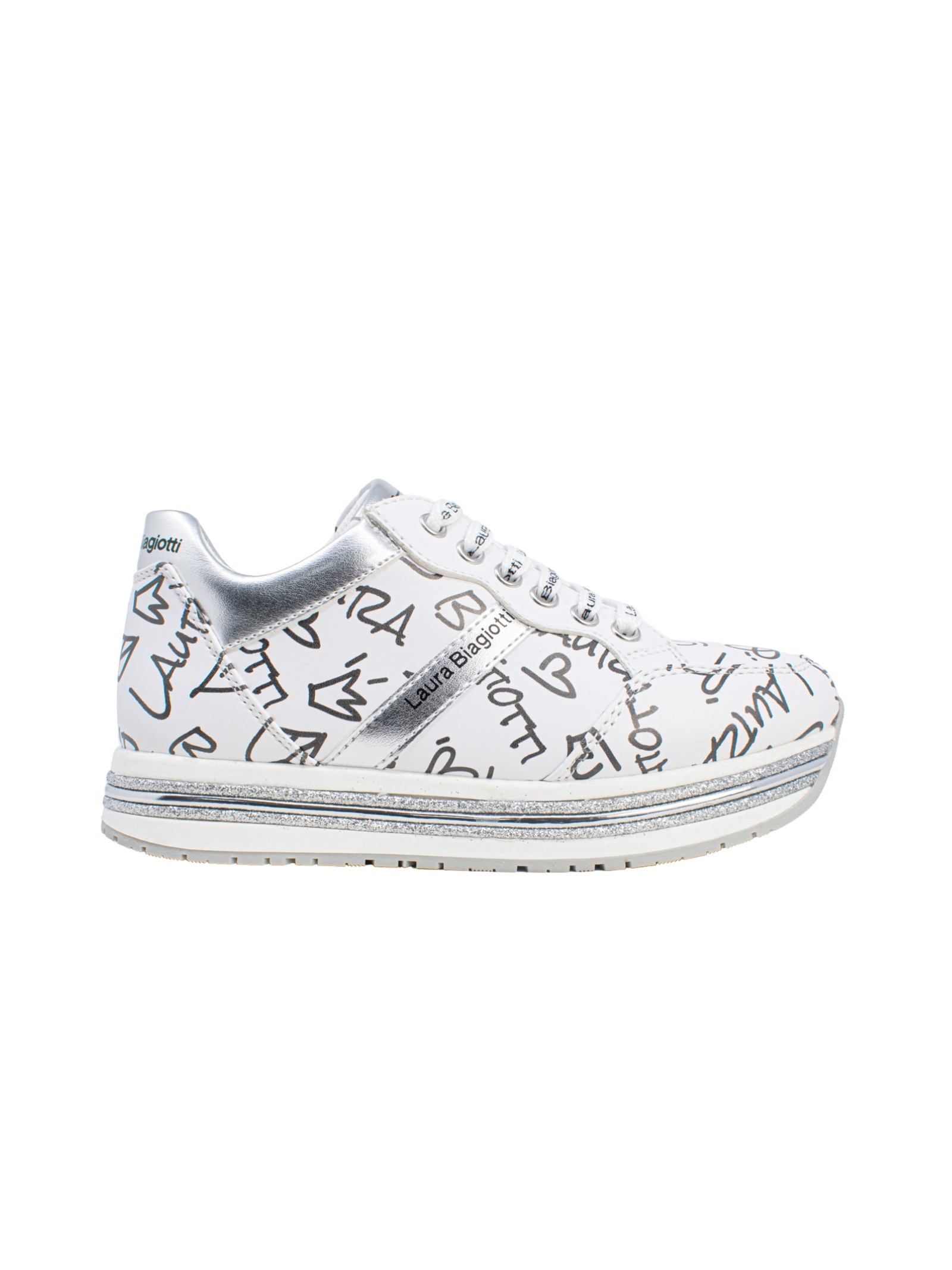 Sneakers Bambina Write Logo LAURA BIAGIOTTI KIDS | Sneakers | 7081BIANCO