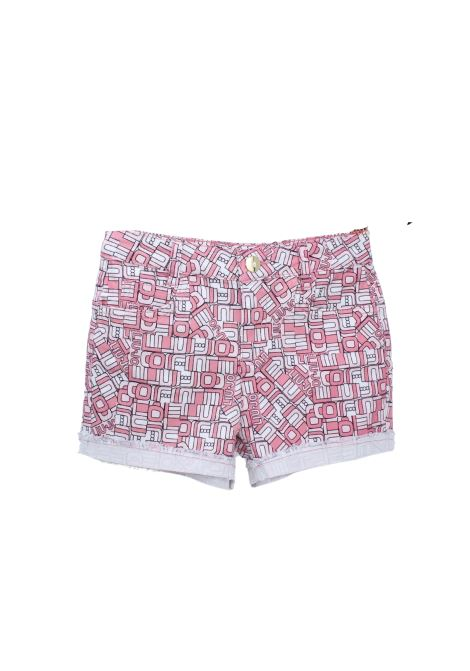 Short Bambina Logo Pink LIU-JO JUNIOR | Shorts | GA1137T5866T9708