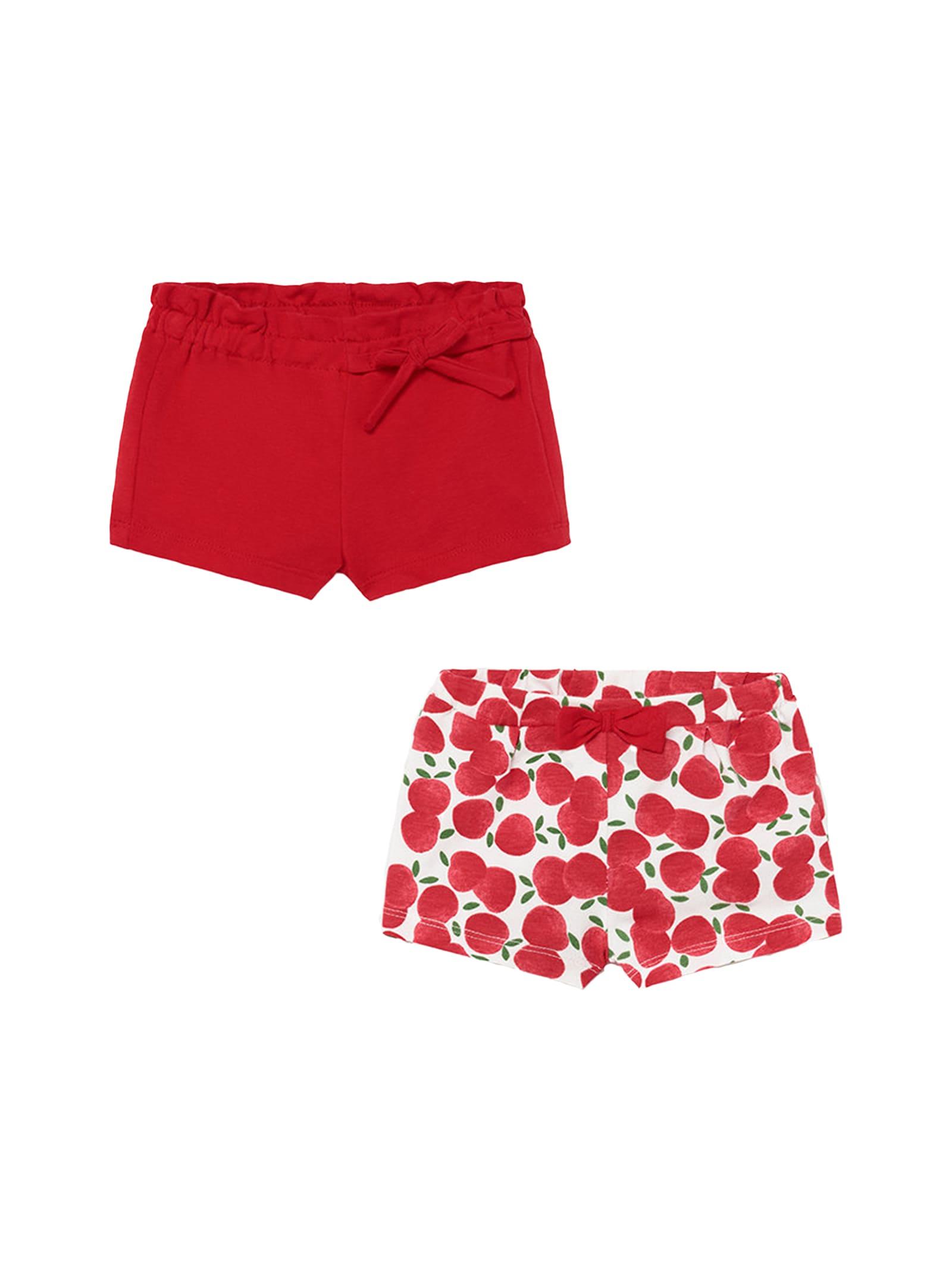 Coppia di Shorts Red MAYORAL NEWBORN | Shorts | 1206054