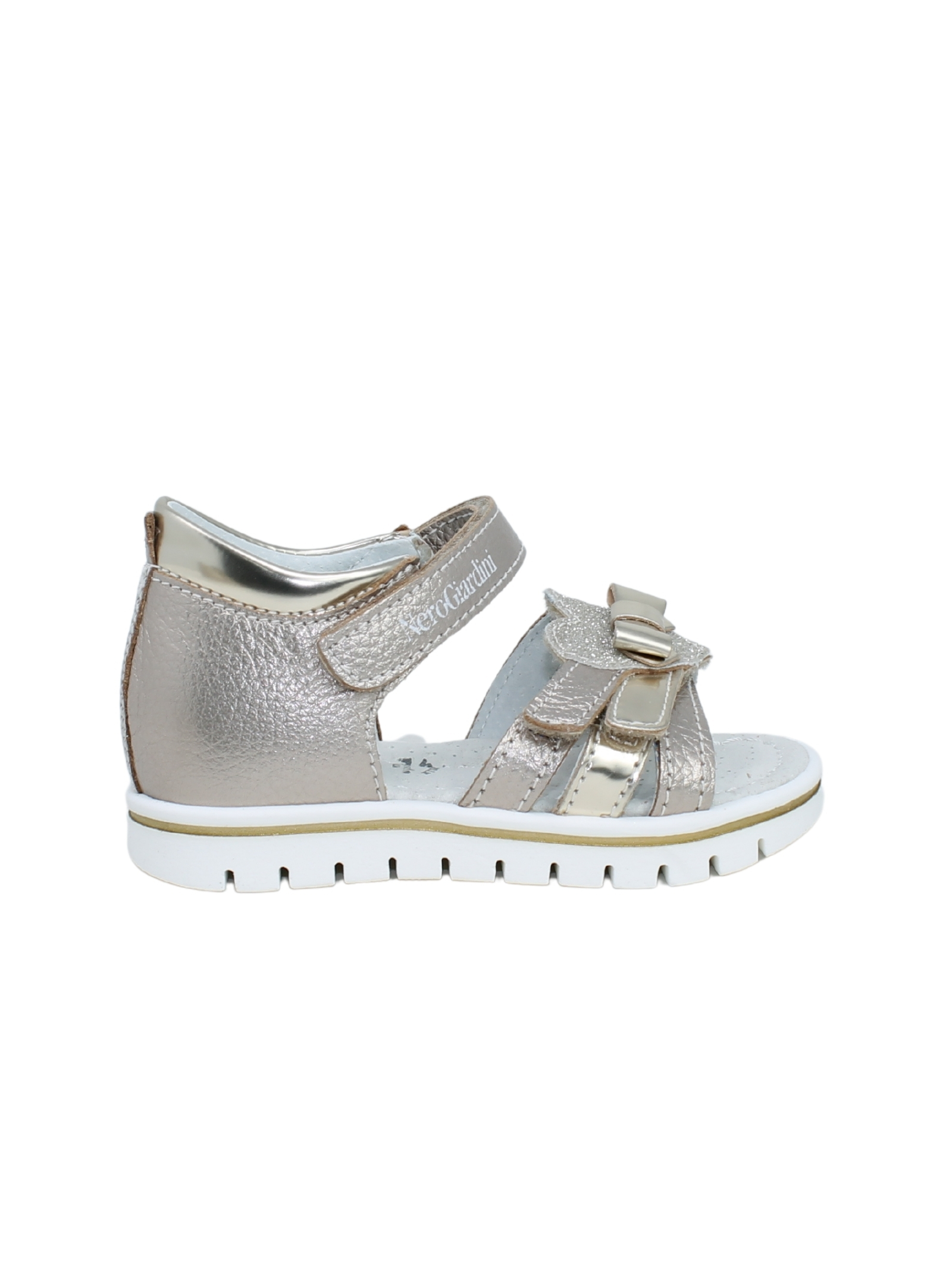 Sandalo Bambina Platino NERO GIARDINI JUNIOR | Sandali | E021473F672