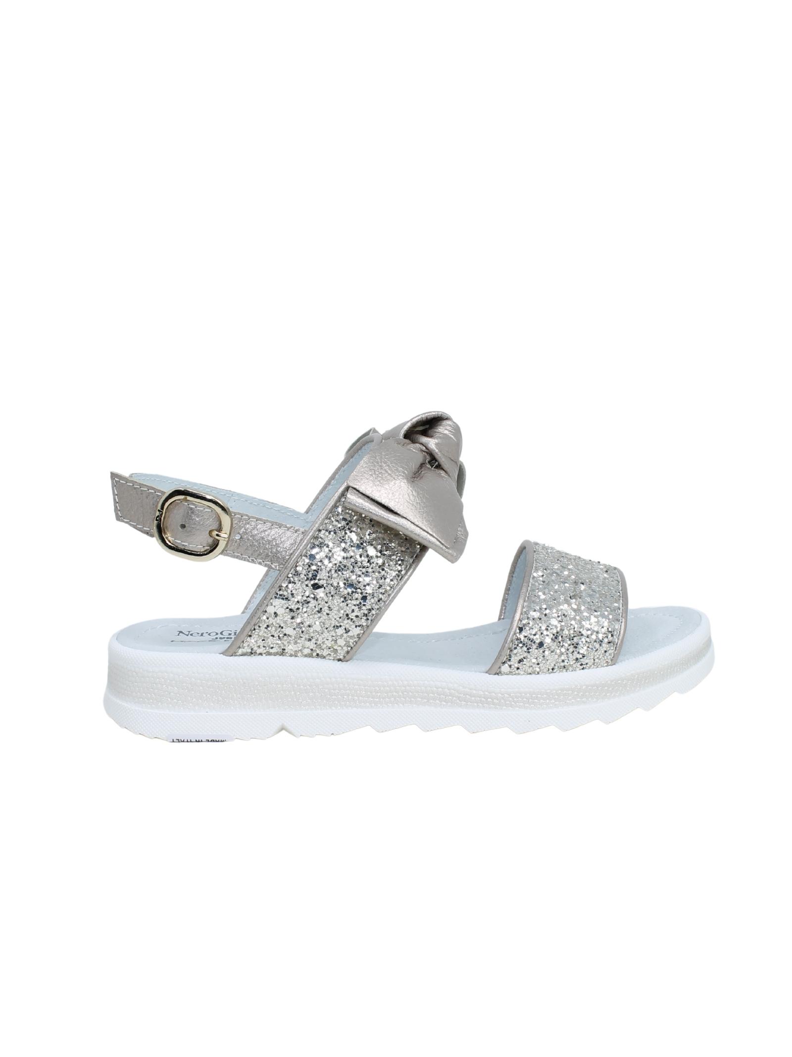Sandalo Bambina Glitter NERO GIARDINI JUNIOR | Sandali | E031600F414