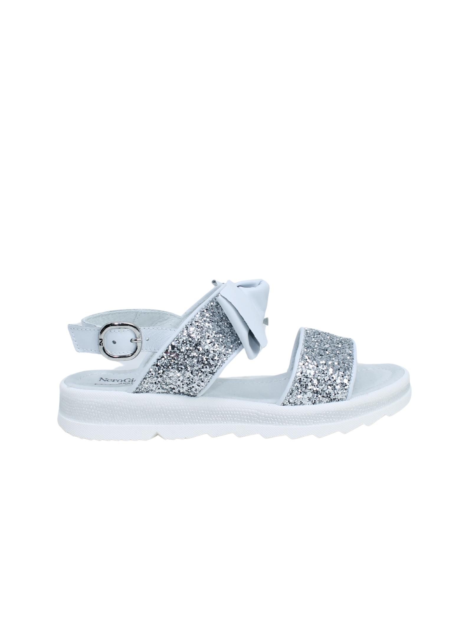 Sandalo Bambina Glitter, NERO GIARDINI JUNIOR | Sandali | E031600F700
