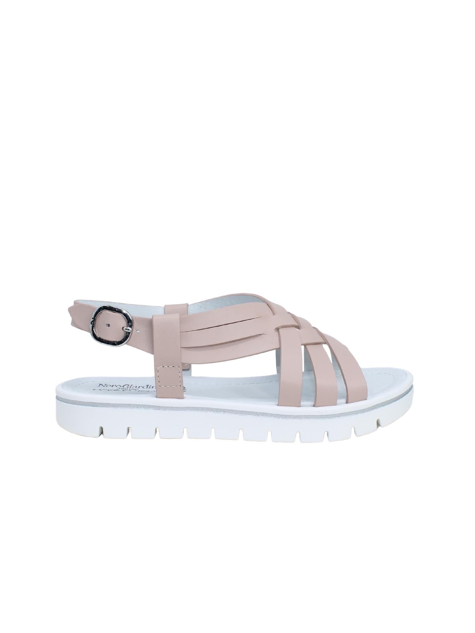 Sandalo Bambina Intreccio NERO GIARDINI JUNIOR | Sandali | E131910F631