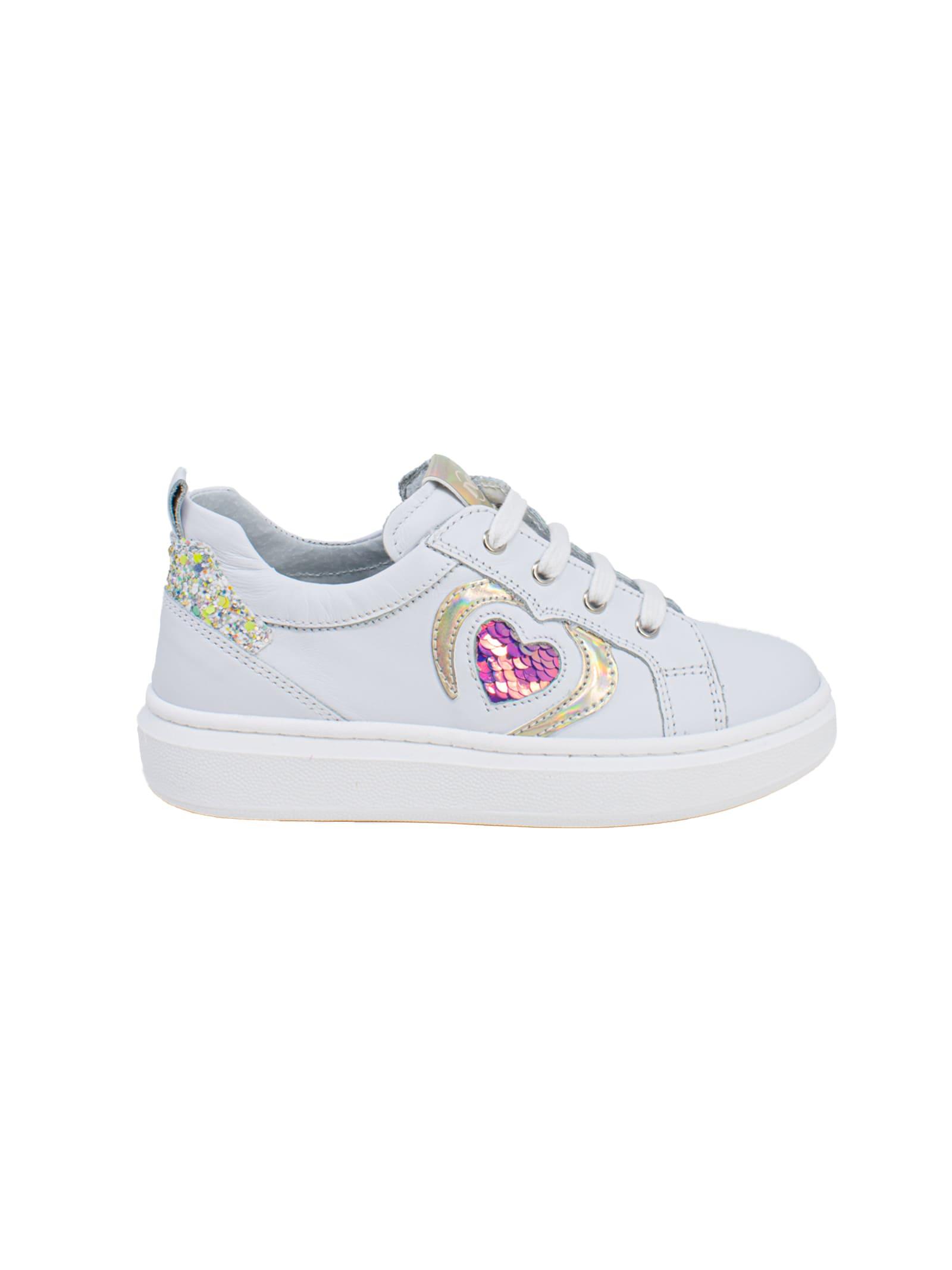 Sneakers Bambina Heart Paillettes NERO GIARDINI JUNIOR | Sneakers | E121680F707