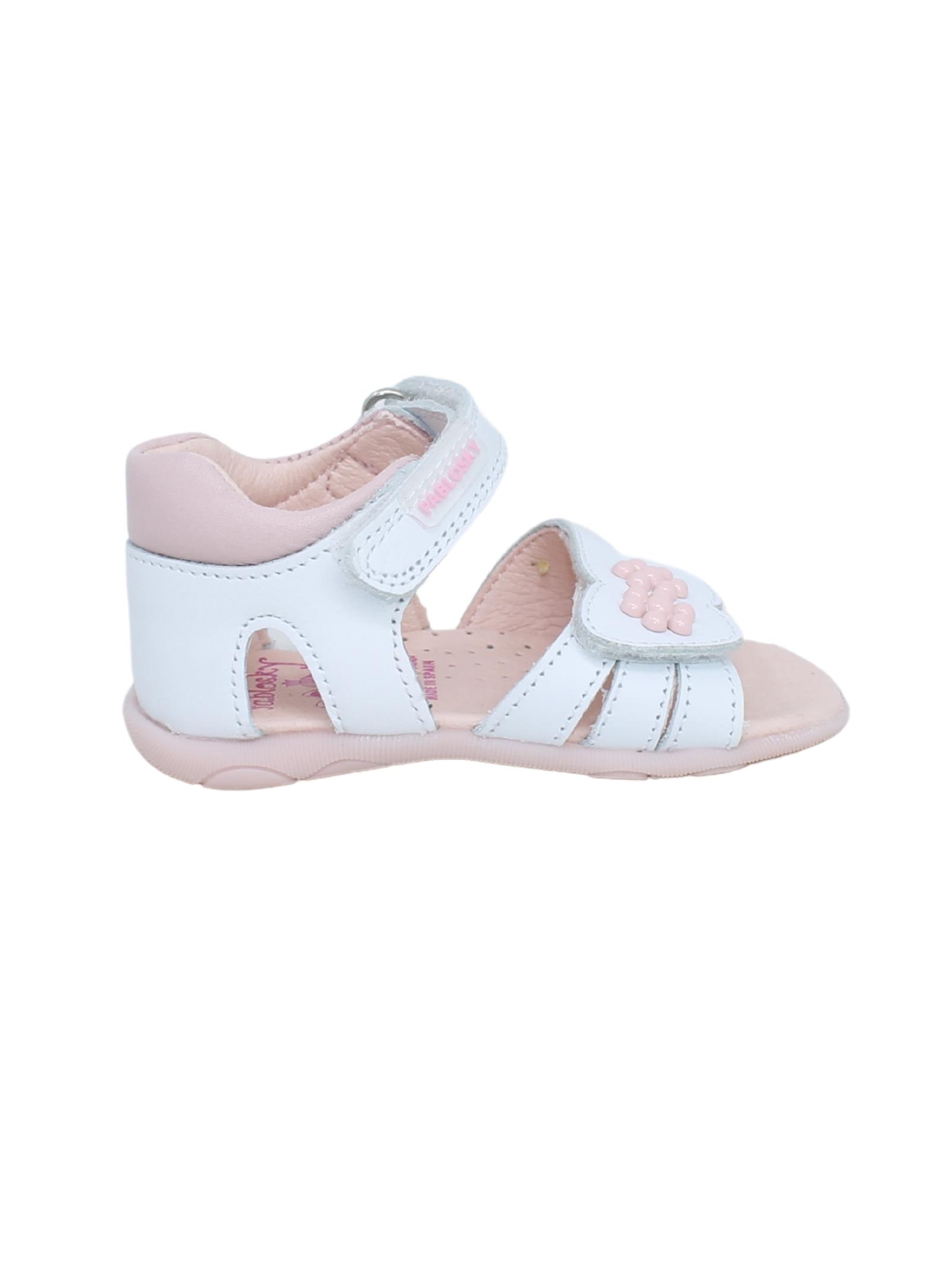 Sandalo Bambina Fiori Pink PABLOSKY | Sandali | 073407BIANCO