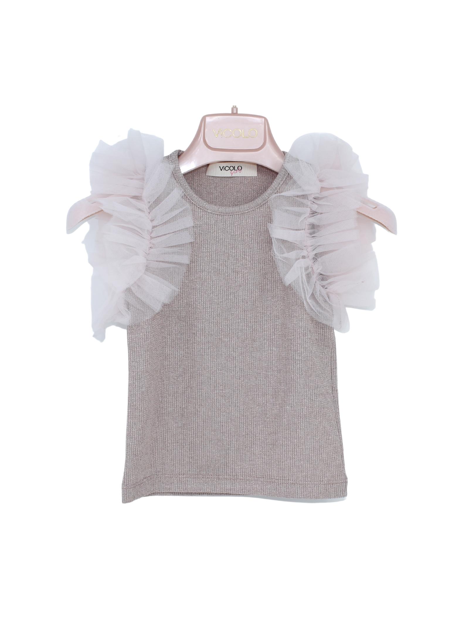 Maglia Bambina a Costine VICOLO KIDS | T-shirt | 3146M0297CIPRIA