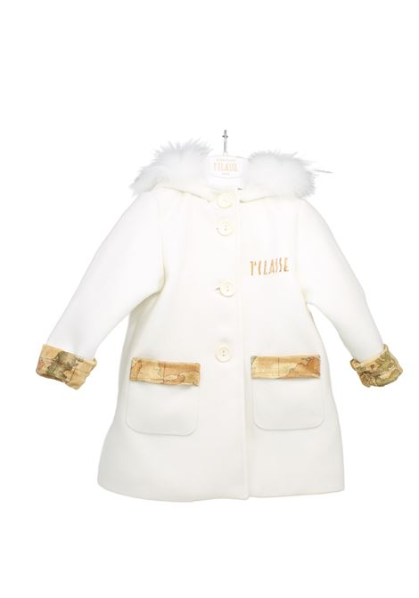 Girl's Long Logo Coat ALVIERO MARTINI 1° CLASSE JUNIOR | Coats | 2561O0552BEIGE