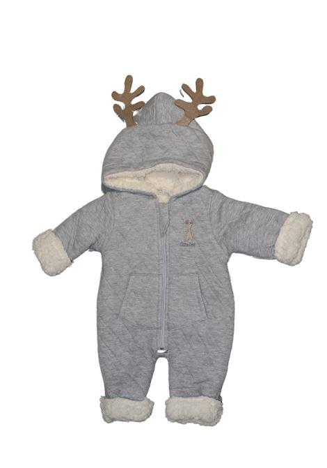 Newborn Reindeer Patterned Jacket BABYDOLA   Jackets   12096GRIGIO