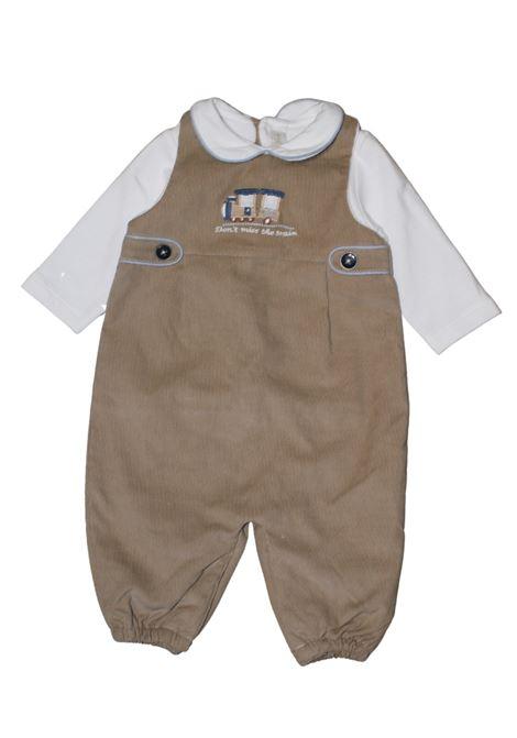 Baby Train onesie BABYDOLA | Rompers | 12374MARRONE