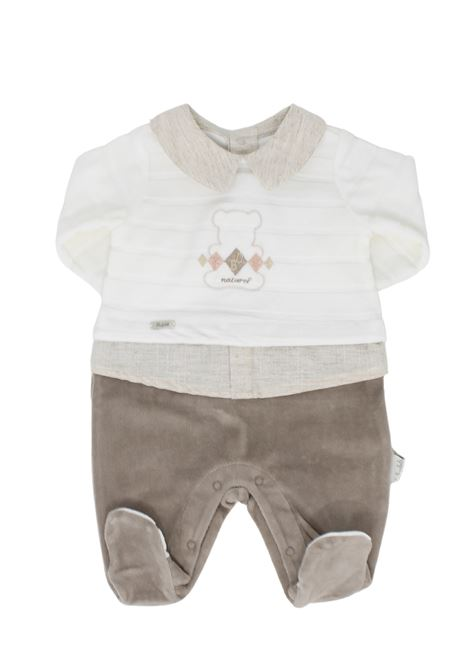 Two Colors Baby Whole Romper BABYDOLA | Rompers | 12406BEIGE