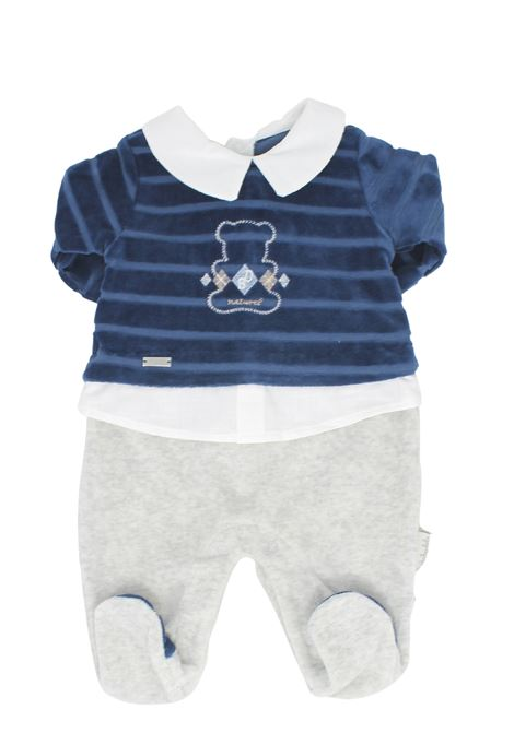 Two Colors Baby Whole Romper BABYDOLA | Rompers | 12406BLU