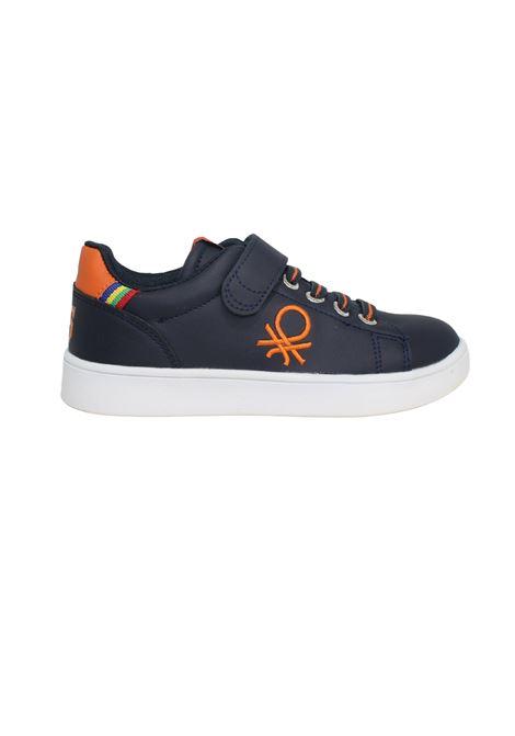 Sneakers Navy Orange Bambino Benetton | Sneakers | BTK124000NAVY ORANGE