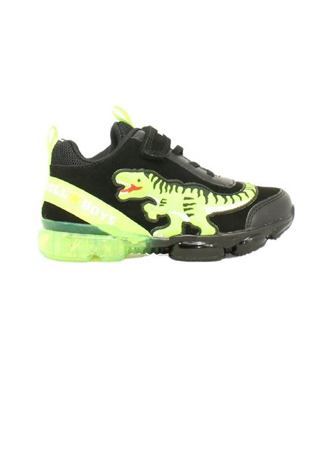 Sneakers Dinosauro Verde Fluo Led Bambino BULL BOYS | Sneakers | BB2131NERO SUEDE