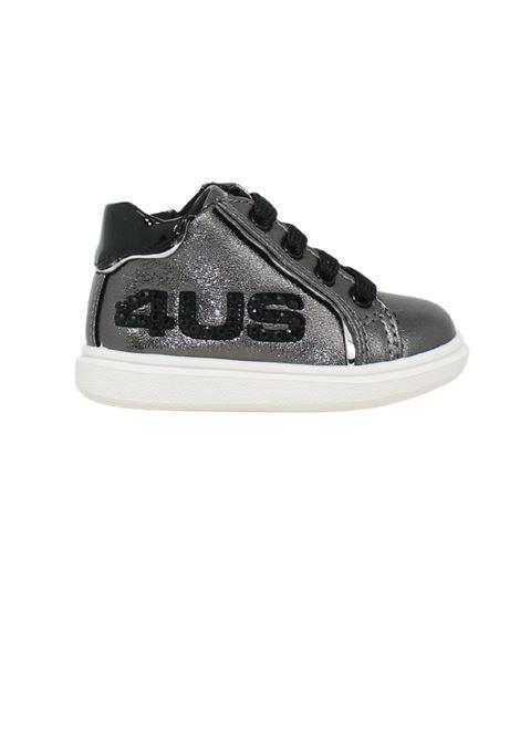 High Sneakers with Glitter for Girl CESARE PACIOTTI | Sneakers | 4U130GRIGIO