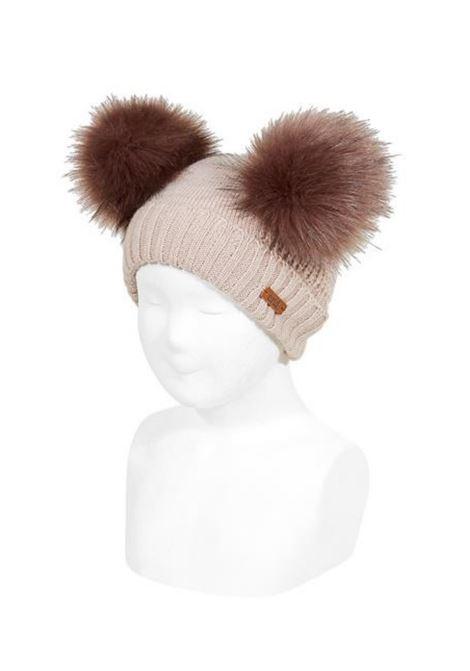 Unisex Ribbed Double Pompom Hat CONDOR | Shirt | 50031011303