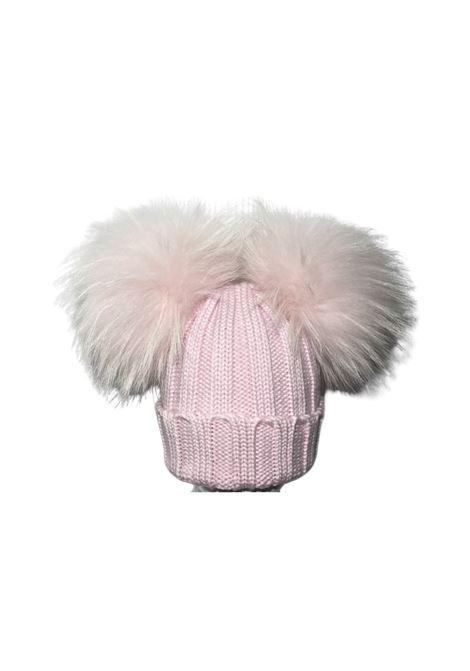 Double Pompon Hat for Girls CUFFIE REGINA | Shirt | 20100ROSA