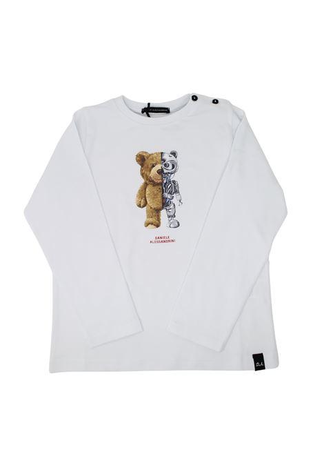 Baby Robot Bear T-shirt DANIELE ALESSANDRINI JUNIOR      1291M0730BIANCO