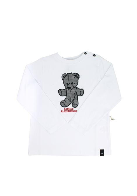 Baby Bear T-shirt DANIELE ALESSANDRINI JUNIOR      1291M0742BIANCO