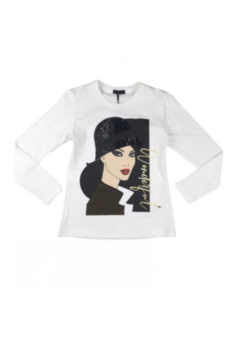Girl's Style T-shirt FUN&FUN | T-shirt | FCJTS9782BIANCO