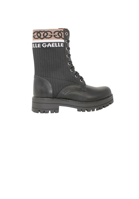 Girl Logo combat boots GAËLLE PARIS KIDS | Amphibians | G1161NERO