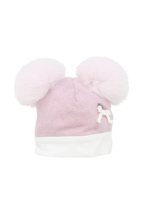 Baby Girl Double Pompon Rose Hat I DELFI | Shirt | 513HROSA