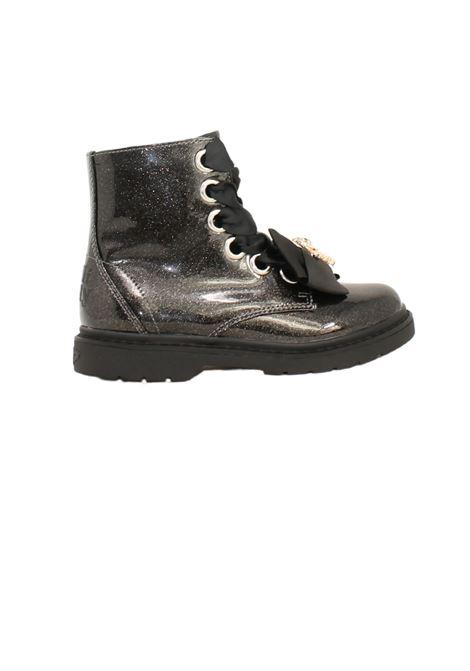 Teddy Glitter Girls combat boots LELLI KELLY | Amphibians | LK4522NERO