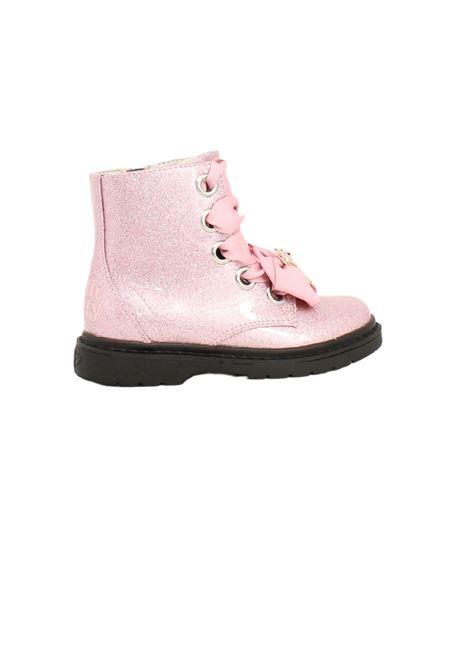 Teddy Glitter Girls combat boots LELLI KELLY | Amphibians | LK4522ROSA