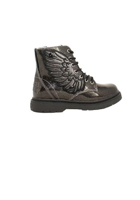 Glitter Butterfly Combat Boots for Girls LELLI KELLY | Amphibians | LK4544NERO