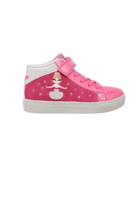 Girl's Pink Mille Stelle Sneakers LELLI KELLY   Sneakers   LK4836FUXIA