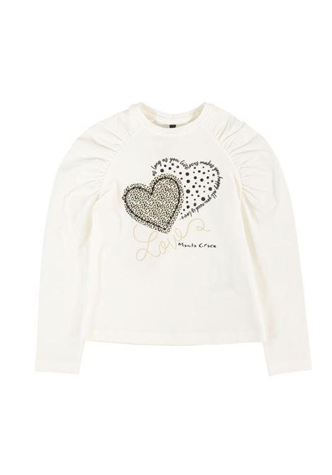 Two Heart T-shirt for girls MANILA GRACE KIDS | T-shirt | MGB1316LATTE