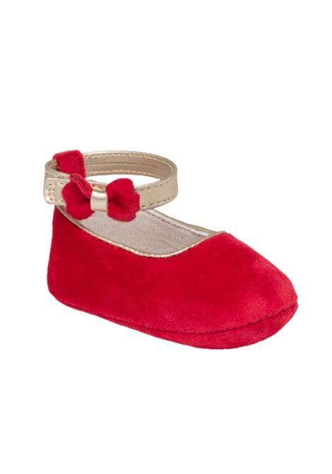 Ballerina Red Velluto MAYORAL NEWBORN | Scarpe | 9457060